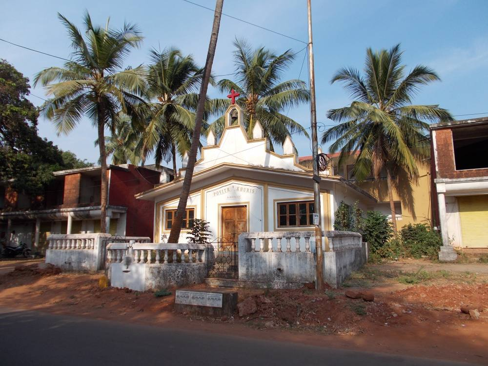 Goa, Candolim, church. Кандолим (северное Гоа), церковь.